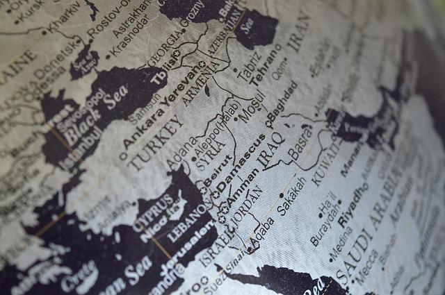 Glóbus, na ktorom je Turecko zblízka