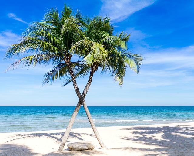 Krásne, čisté a azúrové modré také je presne Karibské more